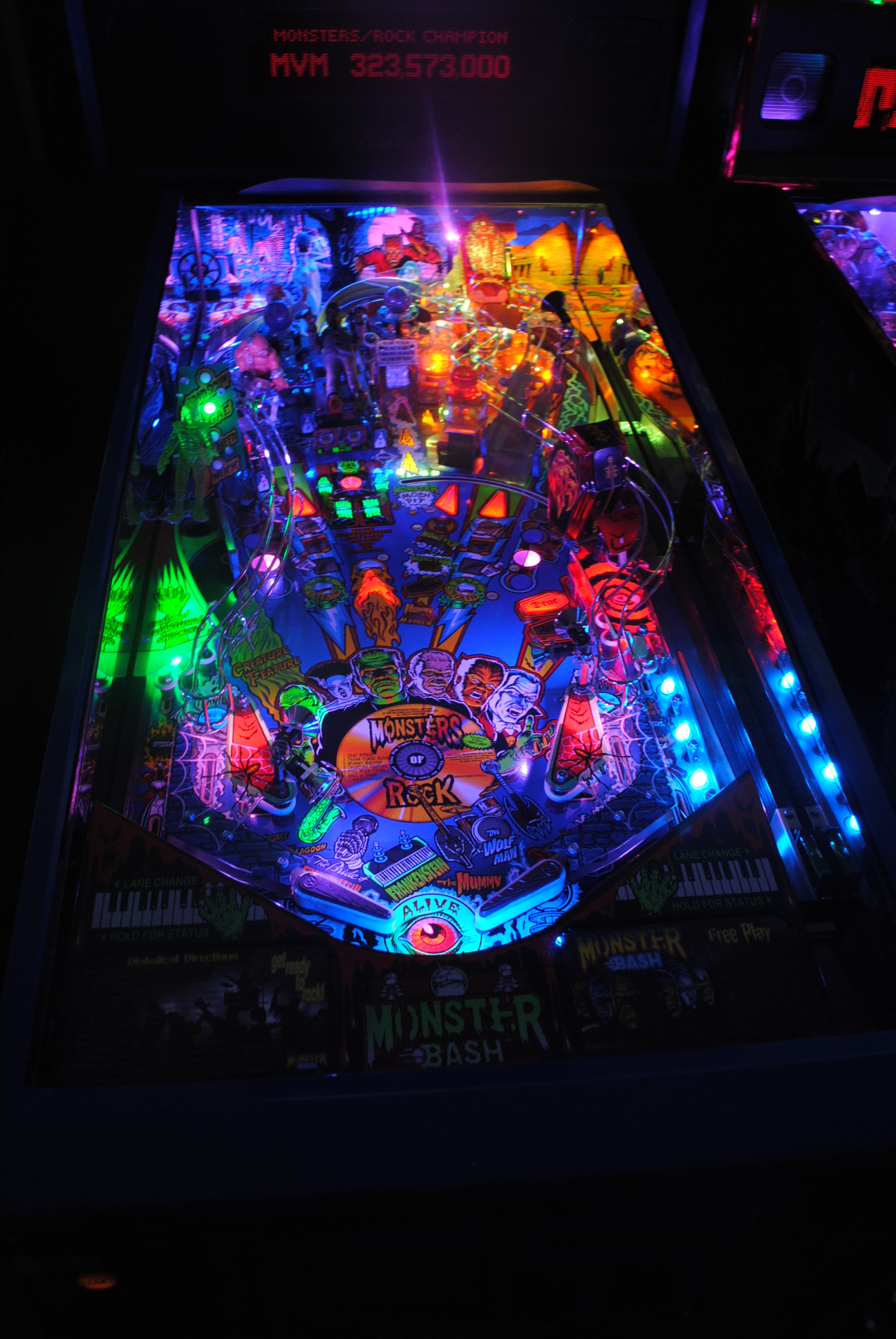 High quality monster bash pinball ultimate led lighting Ultimate lighting