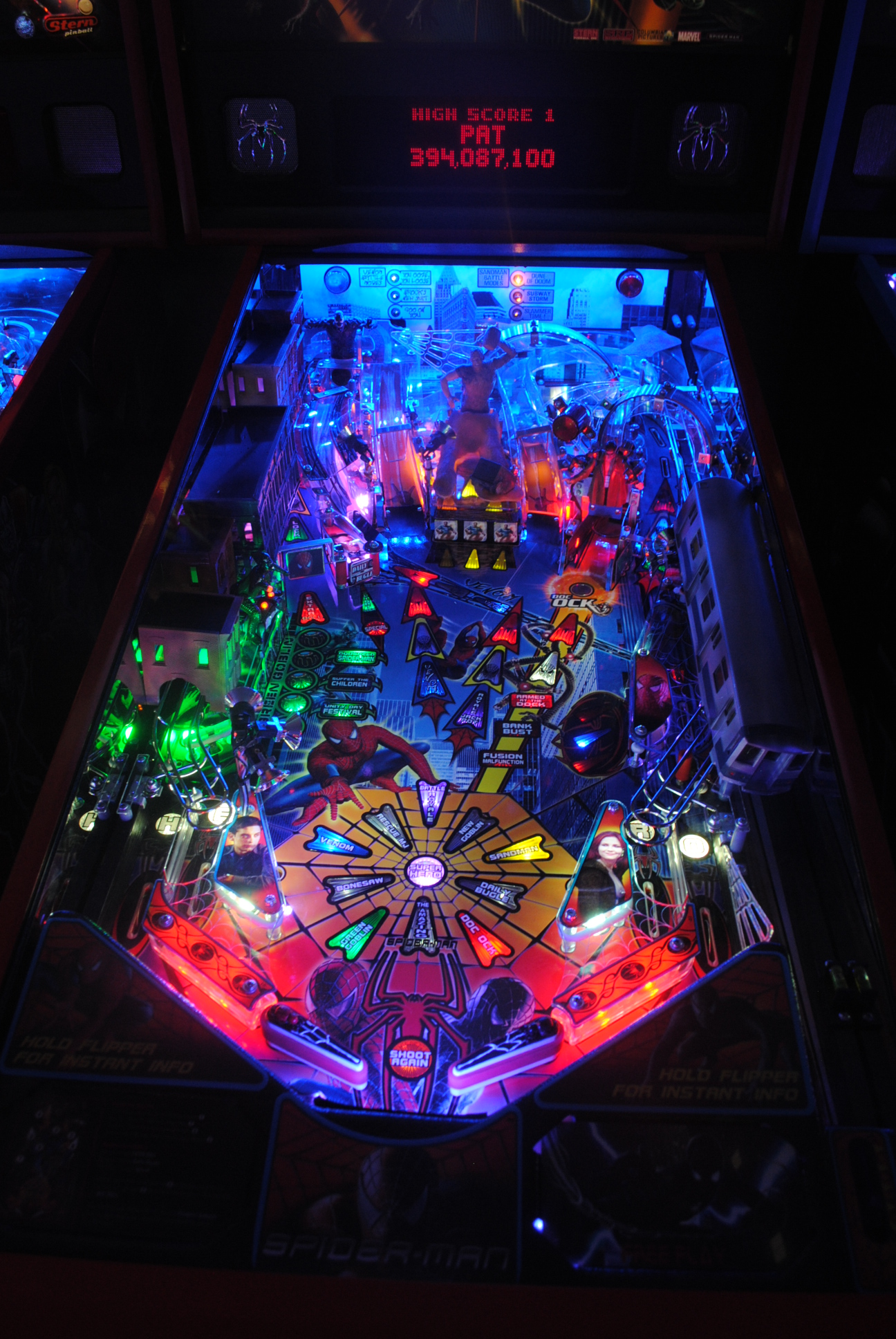 High quality spiderman pinball ultimate led lighting kit Ultimate lighting