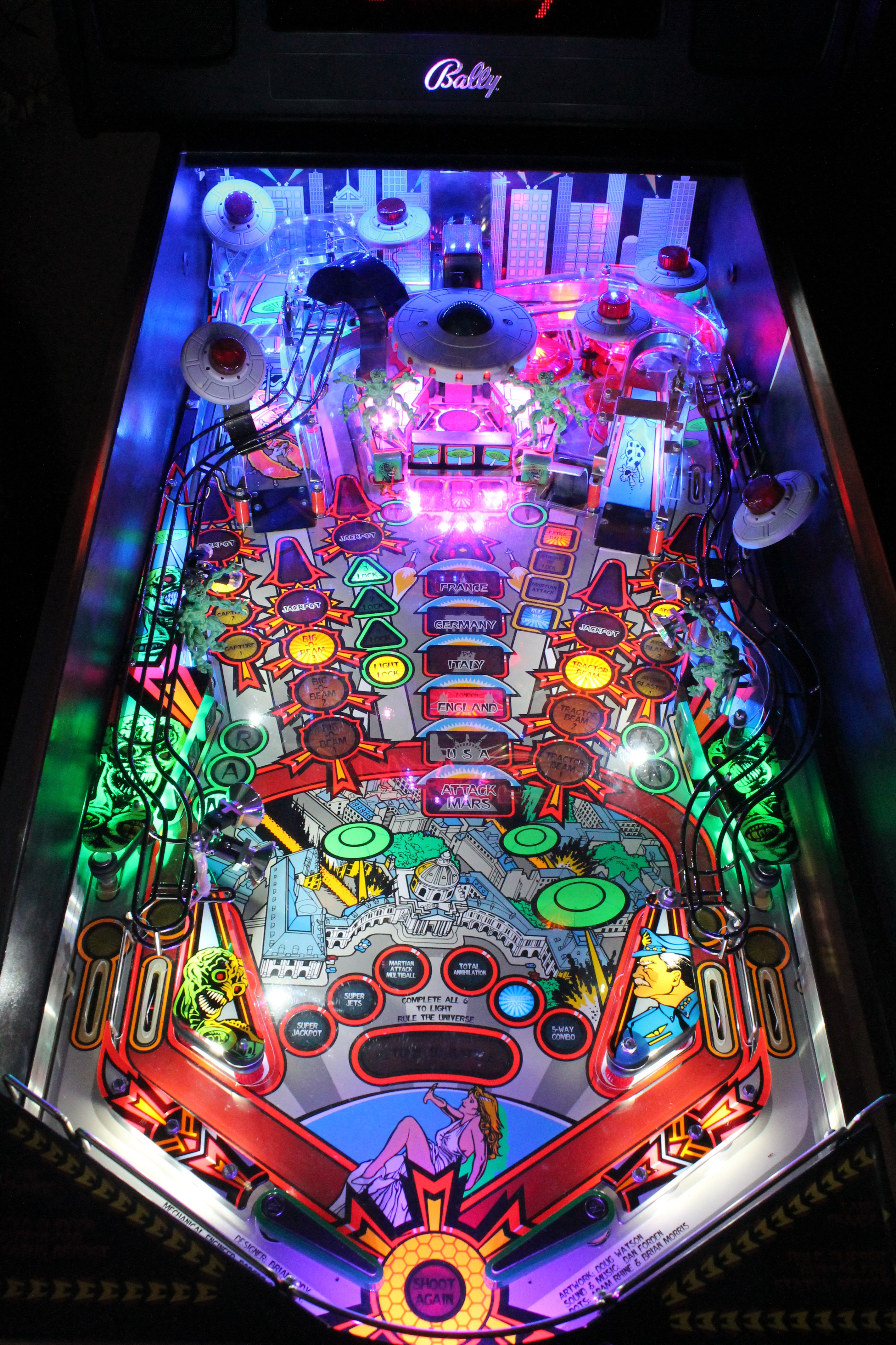 High Quality Attack From Mars Pinball Ultimate Led