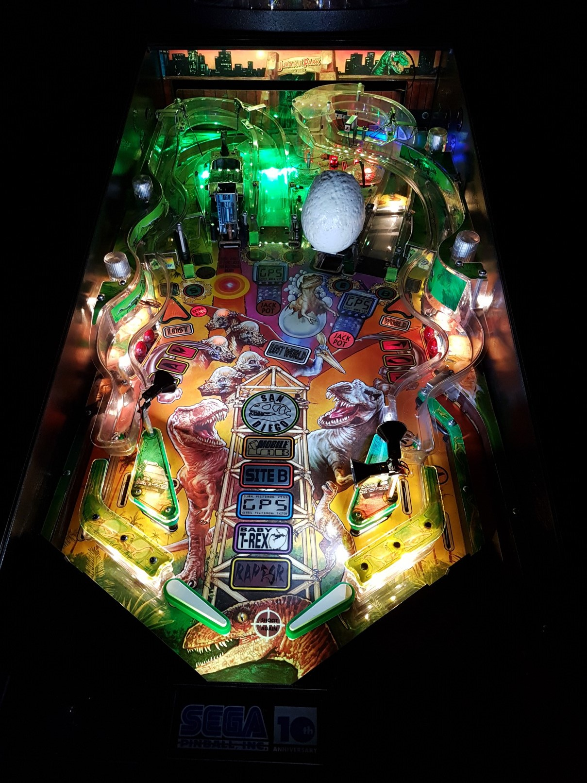 High Quality Jurassic Park Lost World Pinball Ultimate Led