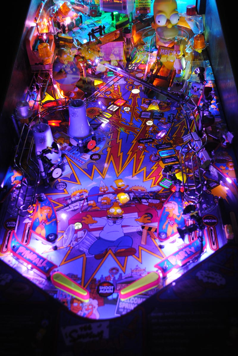 High Quality Simpsons Pinball Party Pinball Ultimate Led